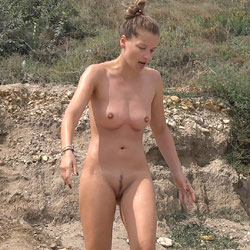 German Couple - Nude Girls, Beach, Big Tits, Brunette, Outdoors, Bush Or Hairy, Beach Voyeur