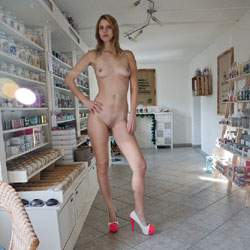 Candle Store Part 1 - Exposed In Public, Flashing, Heels, Shaved, Naked Girl, Amateur