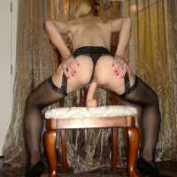 KarissaLegs -- Heels & Black Stockings II - Blonde Hair, Toys