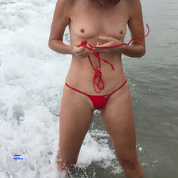 Nirvana Bikini Tease - Nude Outdoors, Shaved, Small Tits, Beach Voyeur, Nude Amateur, Amateur