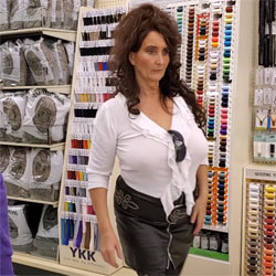 Braless In Hobby Lobby - Brunette, Public Exhibitionist, Mature, Public Place, See Through