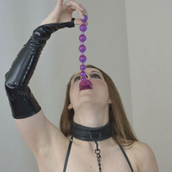 Anal Bead Lesson - Brunette, Toys, Shaved, Amateur