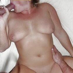 Medium tits of a neighbor - Connie