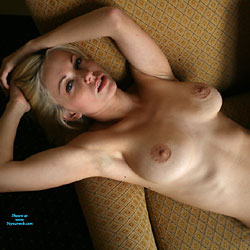 Fun In The Chair - Nude Amateurs, Big Tits, Blonde, High Heels Amateurs, Mature, Shaved