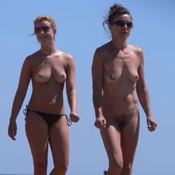 Nude Beach - Nude Girls, Beach, Big Tits, Brunette, Outdoors, Shaved, Beach Voyeur