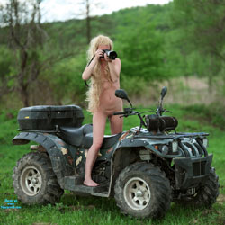 A Little With Motor Vehicles! - Nude Outdoors, Shaved, Naked Girl, Amateur