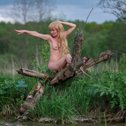 Photoset On The Swamp! - Blonde Hair, Nude In Public, Nude Outdoors, Perfect Tits, Naked Girl, Amateur