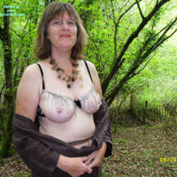 Outdoors And Tits Out - Big Tits, Brunette, Outdoors, Amateur