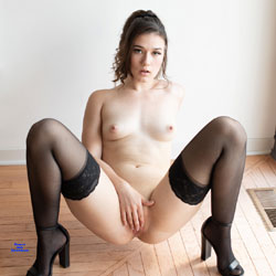 First Contri!! - Nude Girls, Brunette, Small Tits, Shaved, Amateur, High Heels Amateurs, Lingerie, stockings pics
