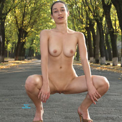 Outdoors Mix - Nude Girls, Big Tits, Brunette, Public Exhibitionist, Flashing, Outdoors, Shaved, Amateur