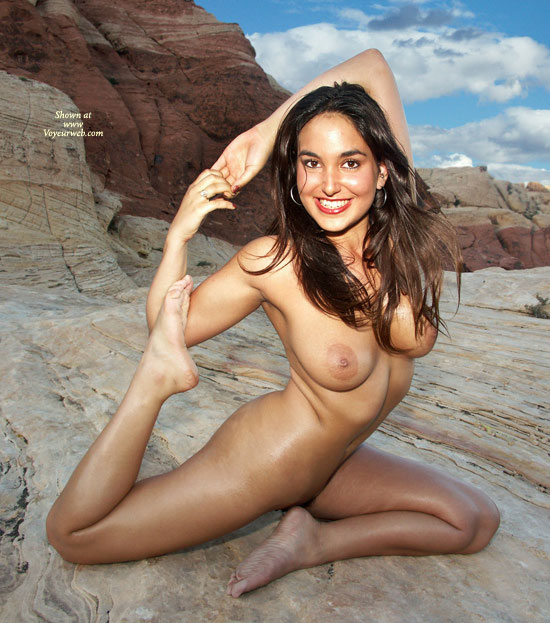 Flexible Girl - Dark Hair, Long Hair, Naked Girl, Nude Amateur , Bendy Pose, Flexible Body, Awesome Hard Body, Athletic Girl, Yoga Pose, Sole Of Feet, Nude In Nature, Beautiful Smile, Beauty On The Rocks, Flexible, Nude Yoga Pose