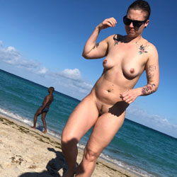 Haulover Quarantine - Big Tits, Hairy Bush, Nude Outdoors, Beach Voyeur, Naked Girl
