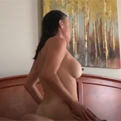 Great Nipples Returns On Top - Nude Amateurs, Big Tits, Brunette, Girl On Guy, Softcore, Amateur