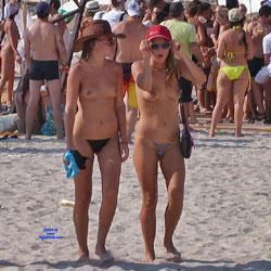 Life Is A Beach - Topless Girls, Beach, Brunette, Outdoors, Beach Voyeur, Medium Tits