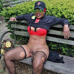Raven Swallowz Cosplay In Public - Big Tits, Ebony, Lingerie, Outdoors, Shaved, Amateur, Stockings Pics, Public Exhibitionist, Public Place