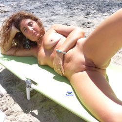 Another Great Day At The Beach - Big Tits, Brunette Hair, Nude Outdoors, Shaved, Naked Girl, Amateur
