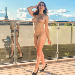 Nude On Rooftop