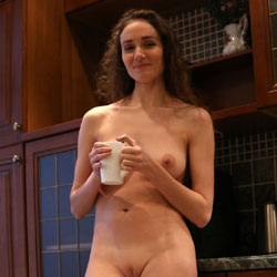 Morning Coffee  - Nude Amateurs, Big Tits, Brunette, Mature, Shaved, Amateur, Firm Ass