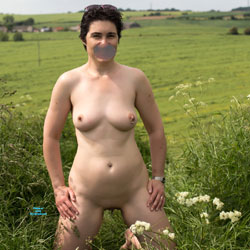 Eve - Sunday Sex Outdoors In The Countryside - Nude Girls, Big Tits, Brunette, Outdoors, Shaved, Amateur, Body Piercings