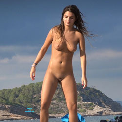 Beach Tennis - Nude Girls, Beach, Big Tits, Brunette, Outdoors, Shaved, Beach Voyeur