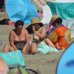 South Of France On Beach This Summer 4 - Topless Girls, Beach, Brunette, Outdoors, Beach Voyeur
