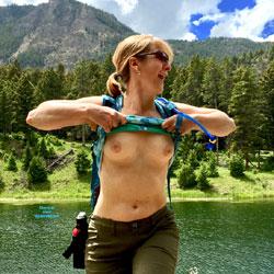 Naughty MILF Outdoor Fun - Nude Girls, Mature, Outdoors, Bush Or Hairy, Amateur, Medium Tits
