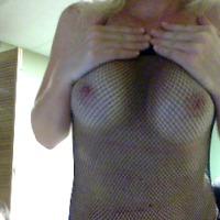 Medium tits of my wife - BJ