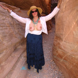 More From Our Desert Trip - Big Tits, Brunette Hair, Hairy Bush, Nude Outdoors, Naked Girl, Amateur