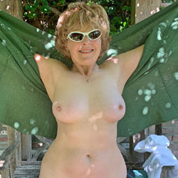 Lady Bee Green Goddess Part 2 - Big Tits, Blonde Hair, Hairy Bush, Mature, Nude Outdoors, Nude Amateur, Amateur