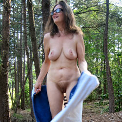 Kate On The Bridge To Paradise - Nude Amateurs, Big Tits, Brunette, Outdoors, Bush Or Hairy, Amateur, Mature