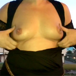 On My Balcony - Big Tits, Outdoors, Amateur