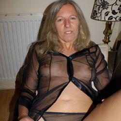 Black See-Through Top - Again - See Through, Amateur, Medium Tits