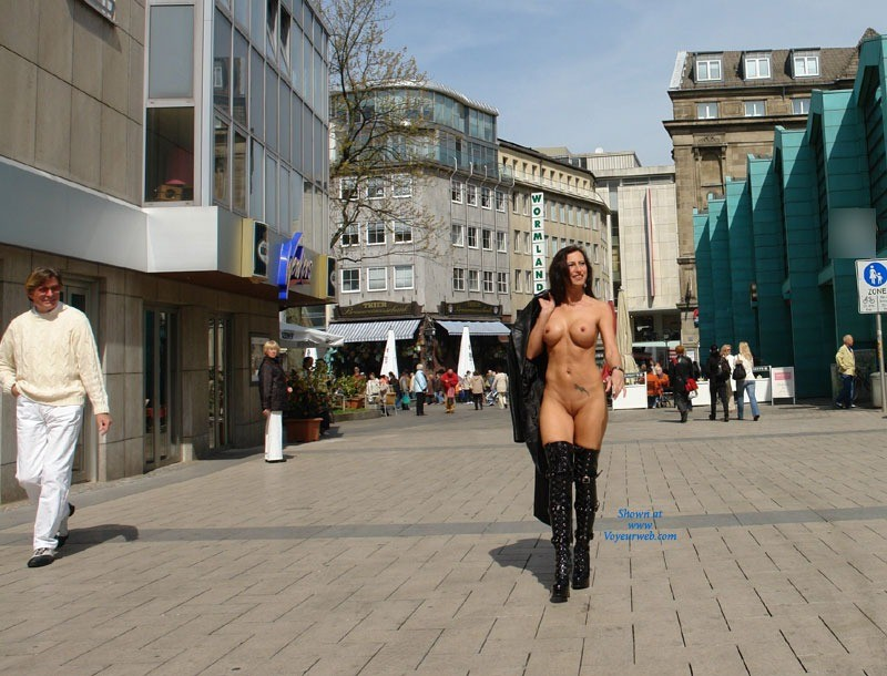 Jana in Dortmund Part Two - Exposed In Public, Nude In Public , And Here We Go Again.