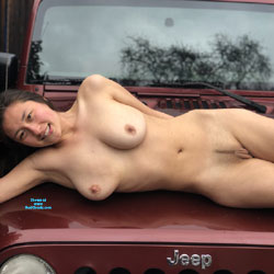 Car Shots For The Win - Big Tits, Brunette Hair, Hairy Bush, Naked Girl, Amateur