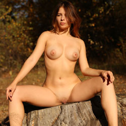 Great Walk In The Woods - Nude Wives, Big Tits, Outdoors, Redhead, Shaved, Amateur
