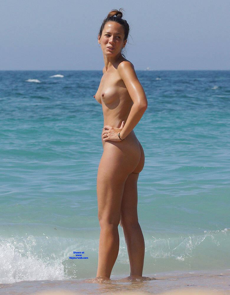 Pic #1 More Beach Tennis - Nude Girls, Beach, Brunette, Outdoors, Bush Or Hairy, Amateur, Medium Tits