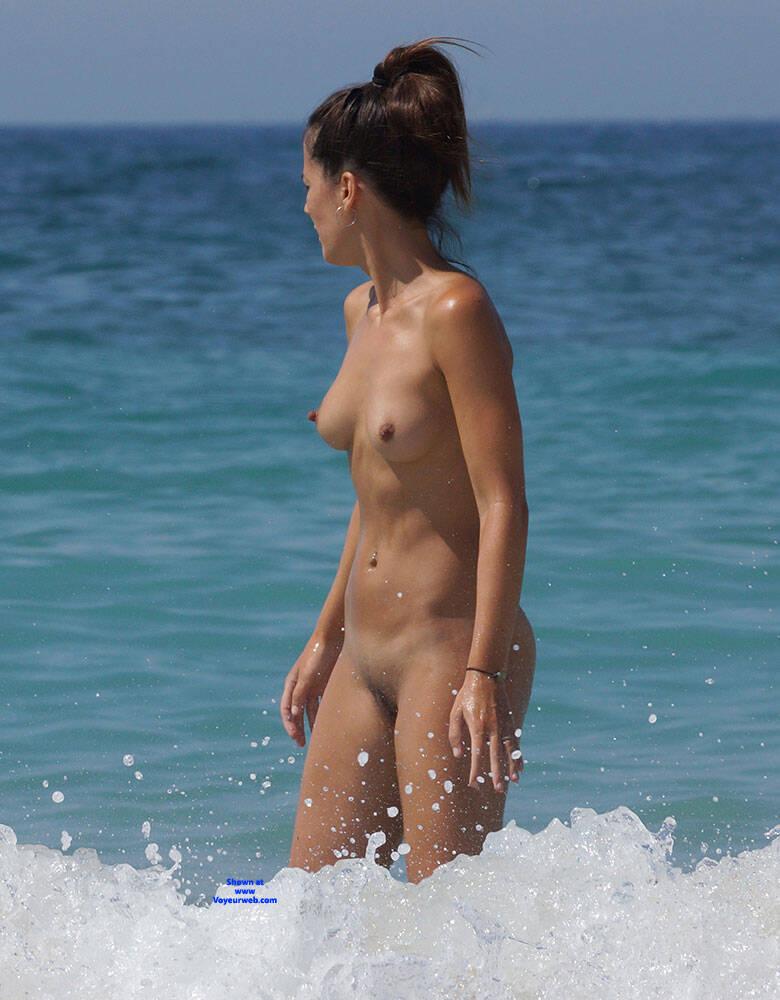 Pic #2 More Beach Tennis - Nude Girls, Beach, Brunette, Outdoors, Bush Or Hairy, Amateur, Medium Tits