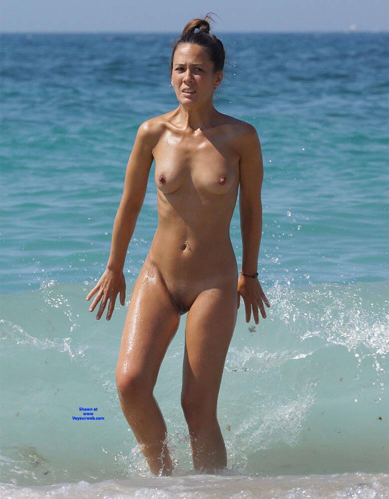 Pic #3 More Beach Tennis - Nude Girls, Beach, Brunette, Outdoors, Bush Or Hairy, Amateur, Medium Tits