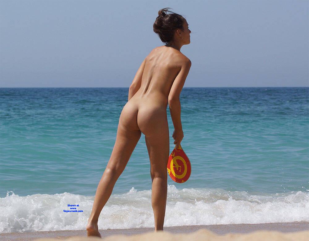 Pic #4 More Beach Tennis - Nude Girls, Beach, Brunette, Outdoors, Bush Or Hairy, Amateur, Medium Tits