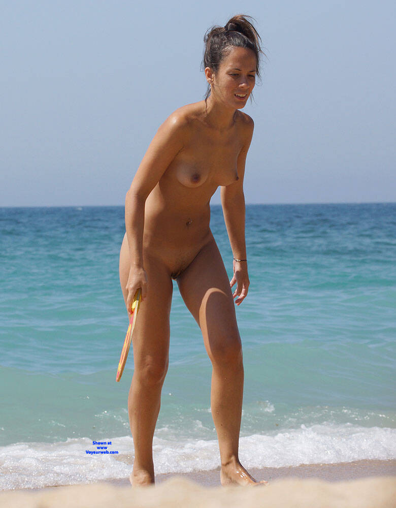 Pic #6 More Beach Tennis - Nude Girls, Beach, Brunette, Outdoors, Bush Or Hairy, Amateur, Medium Tits