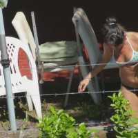 Vecina Argentina Tomand Sol 2 - Voyeur