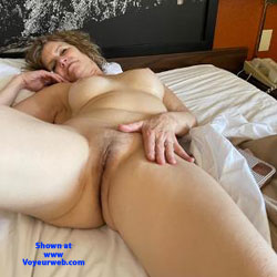 Waking Up - Nude Amateurs, Nude Wives, Big Ass, Mature, Shaved, Round Tits, Blonde, Pussy, MILF, Firm Ass, Mature Pussy, touching pussy, legs spread wide open