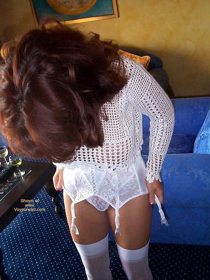 Pic #2 - White See Thru Top And Stockings