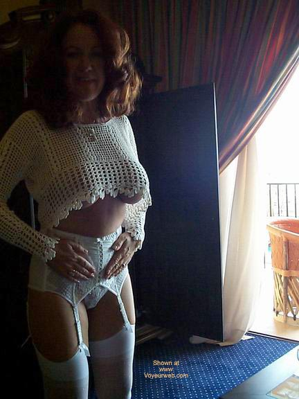 Pic #5 - White See Thru Top And Stockings