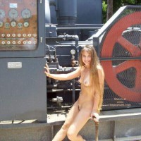 Relaxed Outdoors - Long Hair, Nude In Public, Nude Outdoors, Perky Tits