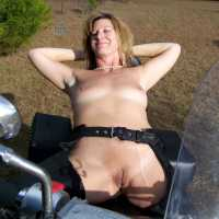 A Day On The Motorcycle! - Outdoors, Big Tits, Mature