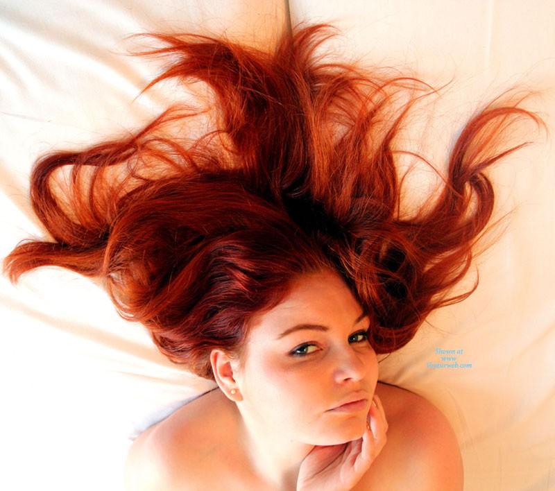 Pic #1 Ravishing Natural Redhead - Lingerie, Redhead