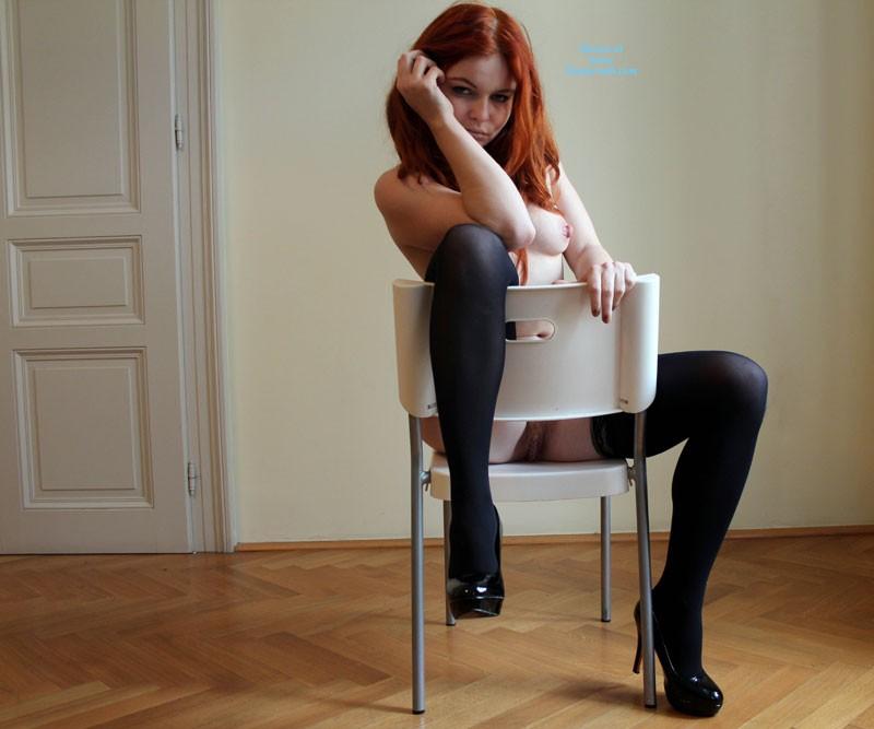 Pic #4 Ravishing Natural Redhead - Lingerie, Redhead