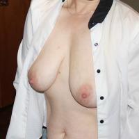 Medium tits of my wife - Sally
