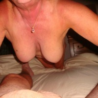 Very large tits of my wife - My mature wife